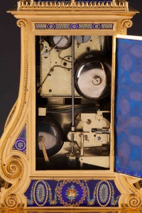 English, for Chinese Market, Automaton Musical Clock (detail) , c. 1790, In the manner of James Cox, Ormolu (gilt bronze), Guilloché enamel, paste jewels, and metal movements; 28 1⁄2 in. high, New Orleans Museum of Art: Bequest of Mr. and Mrs. Robert C. Hills, 2001.253.369