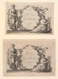Trade Card for Cox's Museum [London, England], 1772. Francesco Bartolozzi, engraver. (Bodleian Libraries, Oxford University)